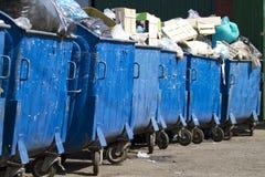 Recipientes do lixo Imagens de Stock Royalty Free