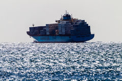 Recipientes do navio do mar áspero Fotos de Stock