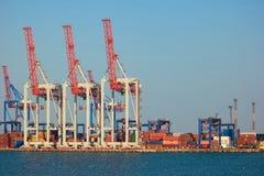 Recipientes do porto marítimo fotos de stock