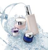 Recipientes dos cosméticos Fotografia de Stock Royalty Free