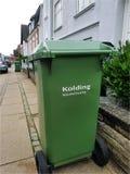 Recipientes para classificar o lixo Imagem de Stock