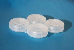 Recipientes para lentes de contato Imagem de Stock Royalty Free