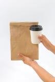 Recipientes para o fast food e as bebidas Materiais Recyclable Fotografia de Stock Royalty Free