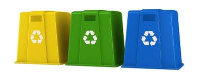 Recipientes para residuos stock de ilustración