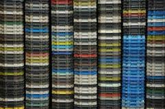 Recipientes plásticos Imagem de Stock