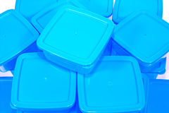 Recipientes plásticos Foto de Stock Royalty Free