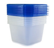 Recipientes plásticos Imagem de Stock Royalty Free