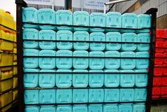 Recipientes plásticos all over Imagens de Stock Royalty Free
