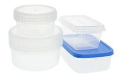 Recipientes plásticos Imagens de Stock