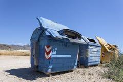 Recipientes Waste Foto de Stock