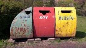 Recipientes waste oxidados velhos Imagem de Stock Royalty Free