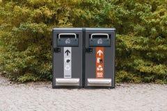 Recipienti astuti moderni Raccolta dei rifiuti Raccolta separata di immondizia e di spreco biodegradabile Fotografia Stock Libera da Diritti
