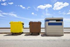 Recipienti di riciclaggio, Immagini Stock