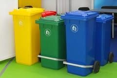 Recipienti di riciclaggio Fotografie Stock