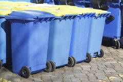 Recipienti di riciclaggio, Brema, Germania Fotografia Stock