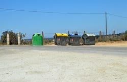 Recipienti di riciclaggio di plastica Fotografie Stock Libere da Diritti