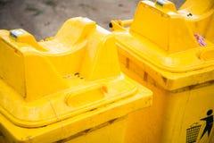 Recipienti gialli Immagini Stock