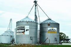 Recipienti Libano, Indiana del grano Immagine Stock