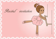 Recital invitation. Stock Photo