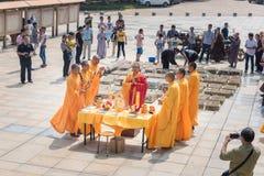 Recite passages from scriptures-religious ceremonies Stock Image