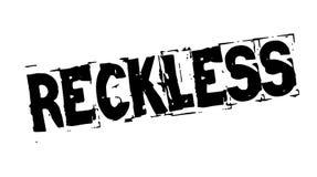 Reckless black stamp. Reckless black typographic stamp. Distressed grunge series Royalty Free Stock Images