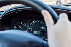 Reckless driving Royalty Free Stock Photo
