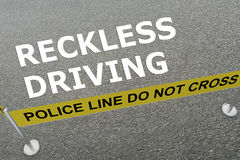 Reckless Driving concept Stock Images
