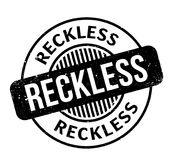 Reckless rubber stamp Stock Images
