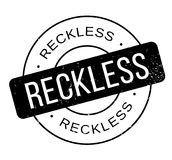 Reckless rubber stamp Royalty Free Stock Images