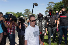 Reclaim Australia Rally - Melton. MELTON, VICTORIA/AUSTRALIA - NOVEMBER 2015: Anti Racism protesters violently clashed with reclaim australia groups rallying Stock Images