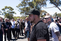 Reclaim Australia Rally - Melton. MELTON, VICTORIA/AUSTRALIA - NOVEMBER 2015: Anti Racism protesters violently clashed with reclaim australia groups rallying Stock Photos
