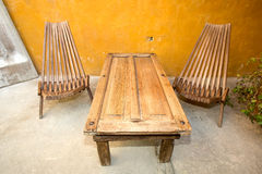 Reclaimed material furniture Stock Images