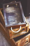 Reclaimed wood box Royalty Free Stock Image