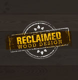 Reclaimed Wood Design Element. Creative Set Of Rustic Labels And Stamps For Custom Interior Workshop Company. Royalty Free Stock Image