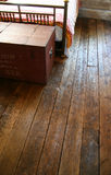 Reclaimed wood floors Stock Images