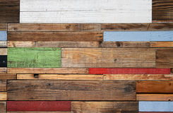 Reclaimed wood panel Stock Image