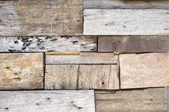 Reclaimed Wood Plank Wall Stock Photo