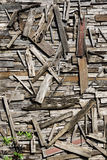 Reclaimed wood wall art Royalty Free Stock Photography