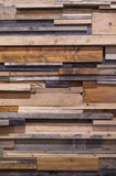 Reclaimed wooden wall Stock Photo