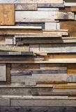 Reclaimed wooden wall Stock Photography