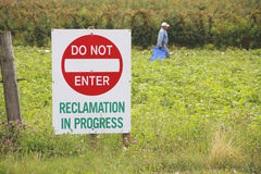 Reclaiming Agricultural Land Royalty Free Stock Photo
