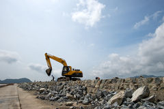 Reclaiming Land. Reclamation shoreline edge in China Stock Images