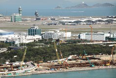 Reclamation at Hong Kong airport Stock Photos