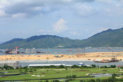 Reclamation in Progress, Hong Kong Stock Image
