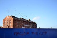 Reclame la ciudad Fotografía de archivo libre de regalías