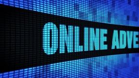 Reclame online Zijtekst die LEIDEN Muurcomité de Raad van het Vertoningsteken scrollen stock footage