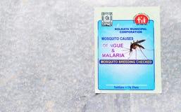 Reclame tegen Knokkelkoorts en Malaria stock afbeelding