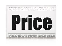 Reclameconcept: de Prijs van de krantenkrantekop Royalty-vrije Stock Foto