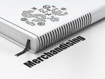 Reclameconcept: het Symbool van boekfinanciën, die op witte achtergrond verhandelen Stock Afbeelding