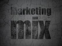 Reclameconcept: Marketing Mengeling op de achtergrond van de grungemuur vector illustratie